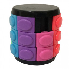 Three-layer Rotate and Slide Puzzle Magic Tower Black